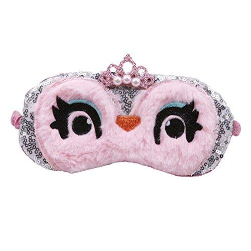 VWH Eule Augen Abdeckung Damen Herren Schlafmaske & Augenbinde (Rose)