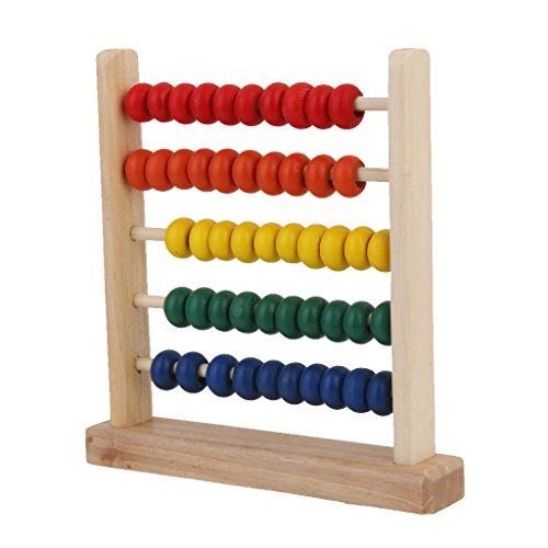 Abacus Rechenschieber 50 Holzperlen Rechenrahmen Abakus Zählrahmen 15 x 15.5cm (Abacus Für Kinder)