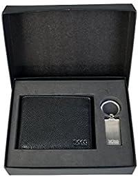 Boss Ghiotto Wallet/Keyring Gift Set Homme Portefeuilles Noir