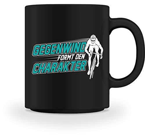 Rennradfahrer Fahrrad Fahrradfahrer Rennrad Radsport Gegenwind fromt den Charakter - Tasse -M-Schwarz