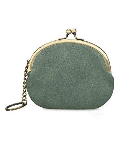 Genfien Pu Leder Mini Wallet Geldtasche Handtasche Geldbörse Schlüsselanhänger Ausziehen Einhaken Kleinebörse Börse Geldbeutel (Leder-lippenstift-halter)