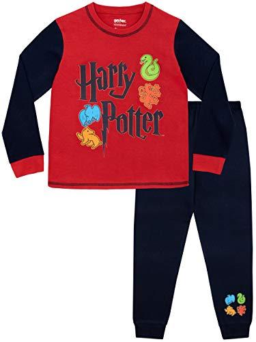 Harry Potter Pijamas de Manga Larga para Niños Hogwarts Rojo 11-12 Años