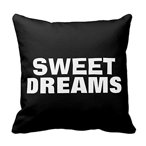 Sweet Dreams Eye Pillow (- Sweet Dreams Meaningful Quotes Throw Pillow Case Decor s with Sayings Square 18x18 Inch Two Sides)
