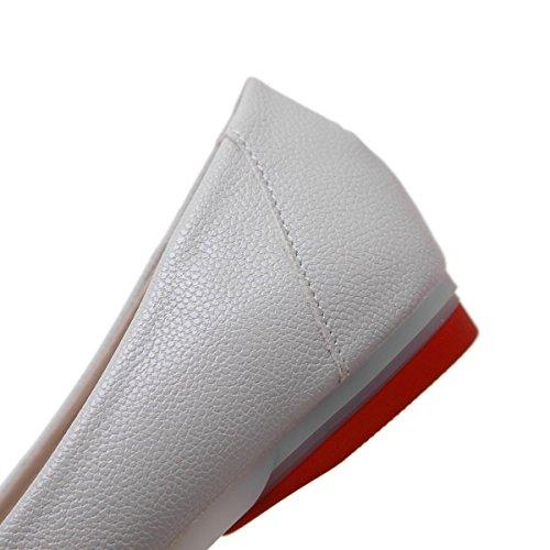 Donne delle nuove svago Appartamenti Scarpe singole Testa rotonda Bocca bassa Shallow Low Heel Scarpe sottili antisdrucciolevoli Scarpe da corte Bow Tie Bianco Grigio Autunno Primavera Partito L Gray