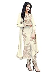 Muta Fashions Women's Georgette Dress Material (SUIT154_27__White_Free Size)