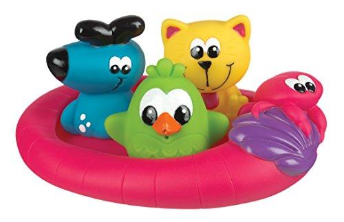 Playgro 40123 - Badespielzeug schwimmende Freunde, bunt