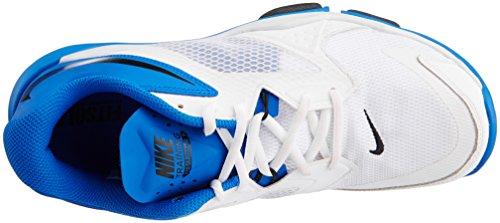 Nike Flex Supreme Tr 3, Chaussures de Sport Homme, Gris, Taille Coloris variés (blanc / noir / bleu (blanc / noir - hyper cobalt))