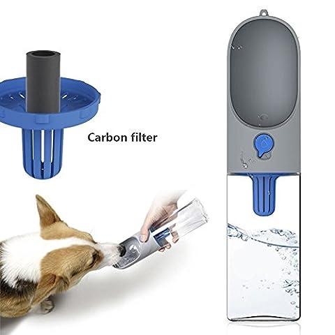 petkit eversweet Pet Outdoor Travel bottle- Wasser Filtration Outdoor & Fashion Farbe & leicht aufnehmen & antibakteriell Hunde Katzen Wasser Flasche (Hund Pet Carrier)