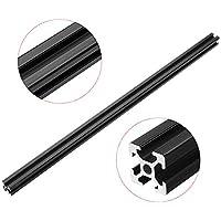 Belupai - Marco de extrusión de aluminio anodizado 2020 con ranura en T para CNC (500 mm), color negro