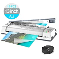 ABOX Thermal Laminator Machine for A3/A4/A6,Laminating Machine with Two Roller System,Jam-Release Switch and Automatic Shut off Function,Fast Warm-up,Quick Laminating Speed for Home/Office/School