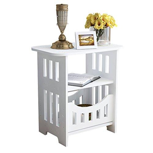 LJF Table Mini-Teetisch, Balkon Gartentisch Blumenladen Kaffee-Shop Tee-Tisch Blumenständer Lagerung Schrank Wandtisch (Farbe : Weiß,...