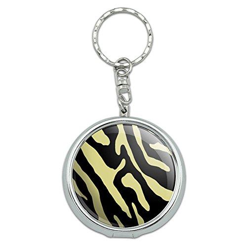 Portable Travel Größe Pocket Geldbörse Aschenbecher Schlüsselanhänger Muster Prints l-z Zebra Print Black Tan