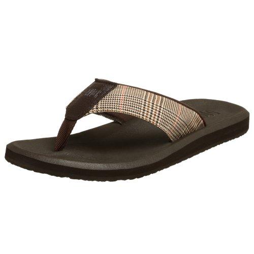 Sanuk sandal up beach suit «flip-flop, baskets Marron - Marron