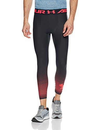 Under Armour, Hg Armour Comp Graphic 3/4, Leggings, Uomo, Nero (Anthracite/Marathon Red 016), L