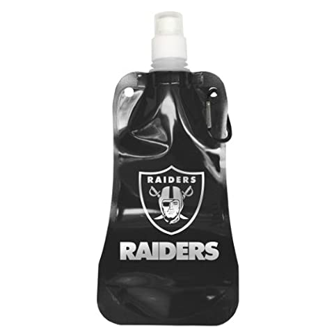 NFL Oakland Raiders Foldable Water Bottle, 16-ounce, 2-Pack