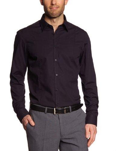 Venti - Camicia slim fit, manica lunga, uomo Nero (Schwarz (80 schwarz))