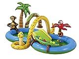Crivit Kinder Planschbecken Babypool Kinderpool mit Rutsche Pool Schwimmbecken Badespaß Dschungelwelt