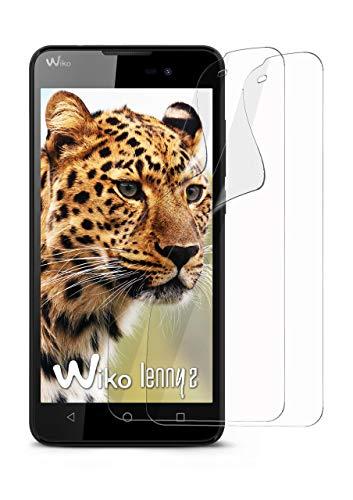 moex 2X Wiko Lenny 2   Schutzfolie Klar Bildschirm Schutz [Crystal-Clear] Screen Protector Display Handy-Folie Dünn Bildschirmschutz-Folie für Wiko Lenny 2 Bildschirmfolie
