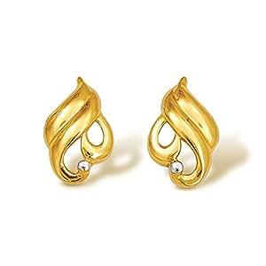 Nishtaa 22K Yellow Gold Stud Earrings
