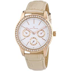 TOM TAILOR Damen-Armbanduhr Analog Quarz Leder 5411806