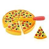 Kinder Pizza Slices Beläge Küche Spielen Essen Spielzeug, Pizza-Spielset Kinderküche Lebensmittel Spielzeug Kaufladen, Küche Kinder Kochen Baby Spielzeug By Upxiang