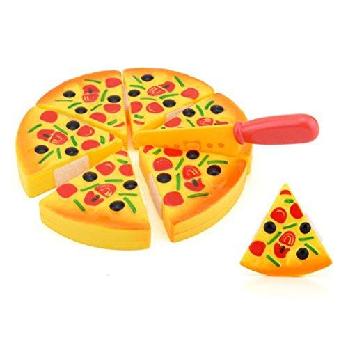 Kochen Pizza (Kinder Pizza Slices Beläge Küche Spielen Essen Spielzeug, Pizza-Spielset Kinderküche Lebensmittel Spielzeug Kaufladen, Küche Kinder Kochen Baby Spielzeug By Upxiang)