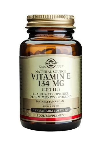 Solgar Vitamin E 134mg 200 UI 50 Vegetable Softgels - Iu 50 Kapseln