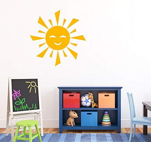57x57 cm Kindergarten Sonne Muster Wandtattoo Vinyl Abnehmbare Nette Sonne Wandaufkleber Für Kinderzimmer Baby Kunstwand Innenarchitektur