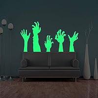 Xue Halloween Wand Decal, Leuchtend, Geschnitzter Arm, Schlafzimmer, Wohnzimmer, Kinderzimmer, Selbstkleber, Tapeten, Wandgemälde, Aufkleber, Kunst Dekor, Selbstklebendes Papier