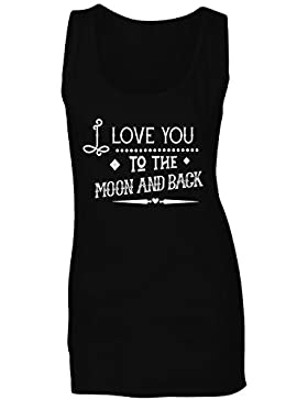 Te Quiero Hasta La Luna Y Más Allá camiseta sin mangas mujer k768ft