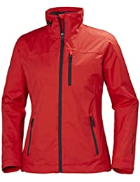 Helly Hansen W Crew Midlayer Jacket Chaqueta Impermeable, Mujer, Alert Red, M