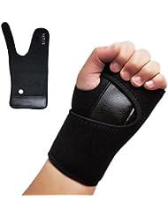 Avanzada muñeca de la mano de Palm Soporte Brace, NATUCE Negro del túnel carpiano férula Estabilizador Protector para el alivio inmediato del dolor del dolor en la muñeca, esguinces, artritis y el RSI - izquierda