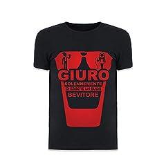 Idea Regalo - Altra Marca T-Shirt Uomo Maglietta per Addii al Celibato Nera Personalizzata Giuro Solennemente - L