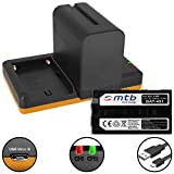2X Batería (7800mAh) + Cargador Doble (USB) NP-F960, F970 para Sony videocámaras | Neewer LED luz de vídeo | ATOMOS Shogun, Ninja… y mas - Ver Lista de compatibilidad