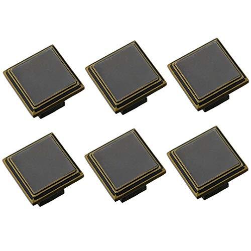 FBSHOP(TM) Euro Bar Schrank Griff Küchengriff Schwarz Bronze, 6er Pack Cabinet zieht Hardware für Bad Schranktür und Schublade Möbelgriff HT8931