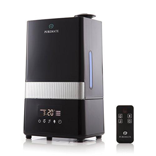 PureMate® PM 908 Humidificador Digital Ultrasónico de Vapor Frío e Ionizador Con difusor de aroma - Capacidad de agua de 4.5 litros