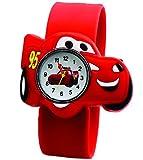 AccessCube Cars Fashion Uhren Kinder Armbanduhr Jungen-Armbanduhr Casual Quarz Slap Armband, rot