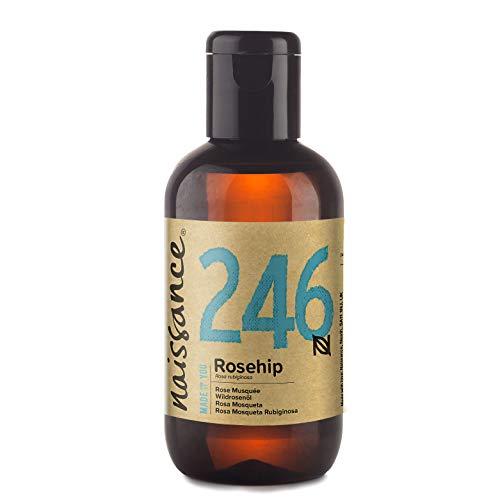 Naissance reines & natürliches Wildrosenöl/Hagebuttenkernöl (Nr. 246) 100ml - feuchtigkeitsspendend & pflegend für alle Hauttypen - für Haare, Gesicht, Haut & Nägel