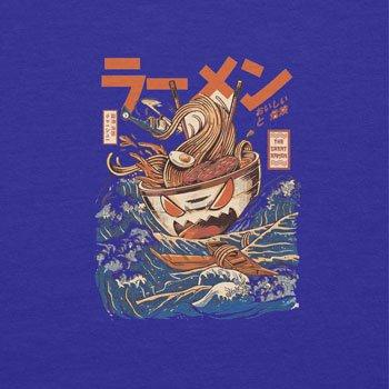 NERDO - The Great Ramen - Damen T-Shirt Marine
