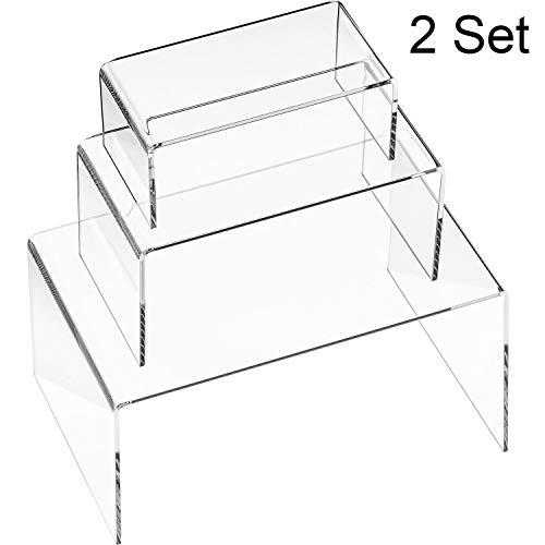 Große Acryl-regal (Blulu 6 Stücke Acryl Display Ständer, Acryl Schmuck Display Steigleitung, Regal Schaufenster Befestigungen (Größe A))