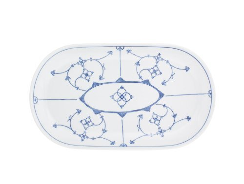 Kahla - Porcelaine pour les Sens 463306A75019H Saks Tradition Plat de Service Ovale Bleu/Blanc 32 cm