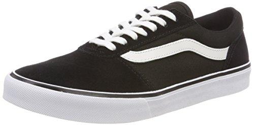 Vans Damen Maddie Suede/Canvas Sneaker, Schwarz Black/White Iju, 41 EU