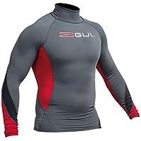 2016 Gul Xola Long Sleeve Rash Vest Ash/Red RG0339-A9