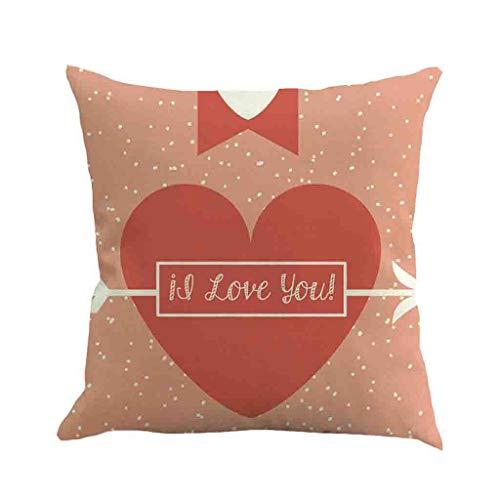 Momoxi Glücklicher Valentinstag, Drucken Kissenbezug Polyester Sofa Car Kissenbezug Home Decor