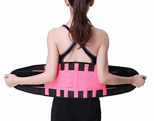 Bonvie Sport Fitness Bauchweggürtel Abnehmen Schwitzgürtel Schlankgürtel Bauchgürtel, Größe:M, Farbe:Pink/Schwarz