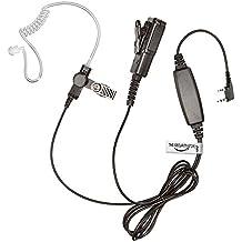 Kenwood Radio auricular (tamaño grande PTT/cable con dos/resistente Kevlar auricular con micrófono) THE-SECURITY-STORE