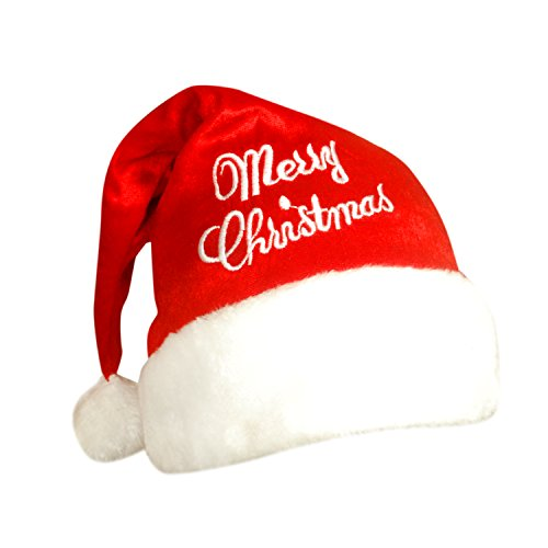 Stylla London Men's and Women's Christmas Redd Santa Hat