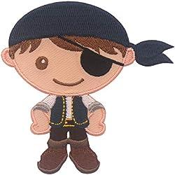 Parche para ropa de pirata niño, termoadhesivo.
