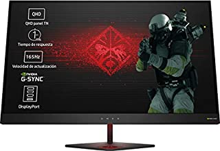 HP OMEN 27 - Monitor gaming de 27 pulgadas G-sync + altura ajustable (QHD, 1ms, 165 Hz, Nvidia G-Sync, 2560 x 1440 pixeles), color negro (B0732RYF8P) | Amazon Products