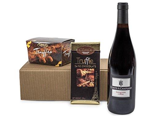 Geschenkset'Gaumenfreude' Schokolade und Wein und Schokolade (1 x 0.75 l)
